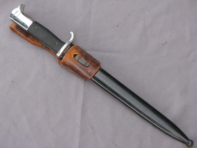 WWII German Army Dress Bayonet Carl Wusthof with Brown Leather Frog 17-33