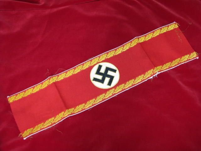Original WWII German NSDAP Armband Kreis Level Administrative with White Piping 17-57