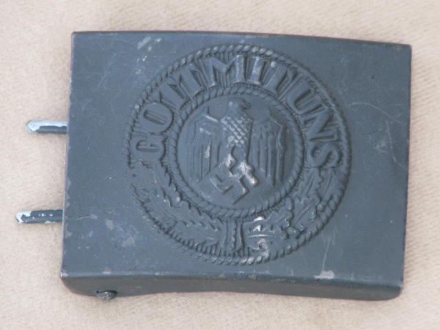 Original WWII German Army EM/NCO Painted Belt Buckle 17-93