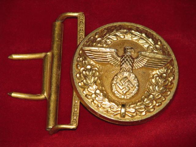 Original WWII German NSDAP Political Leaders Belt Buckle RZM M4/87 Marked 17-99