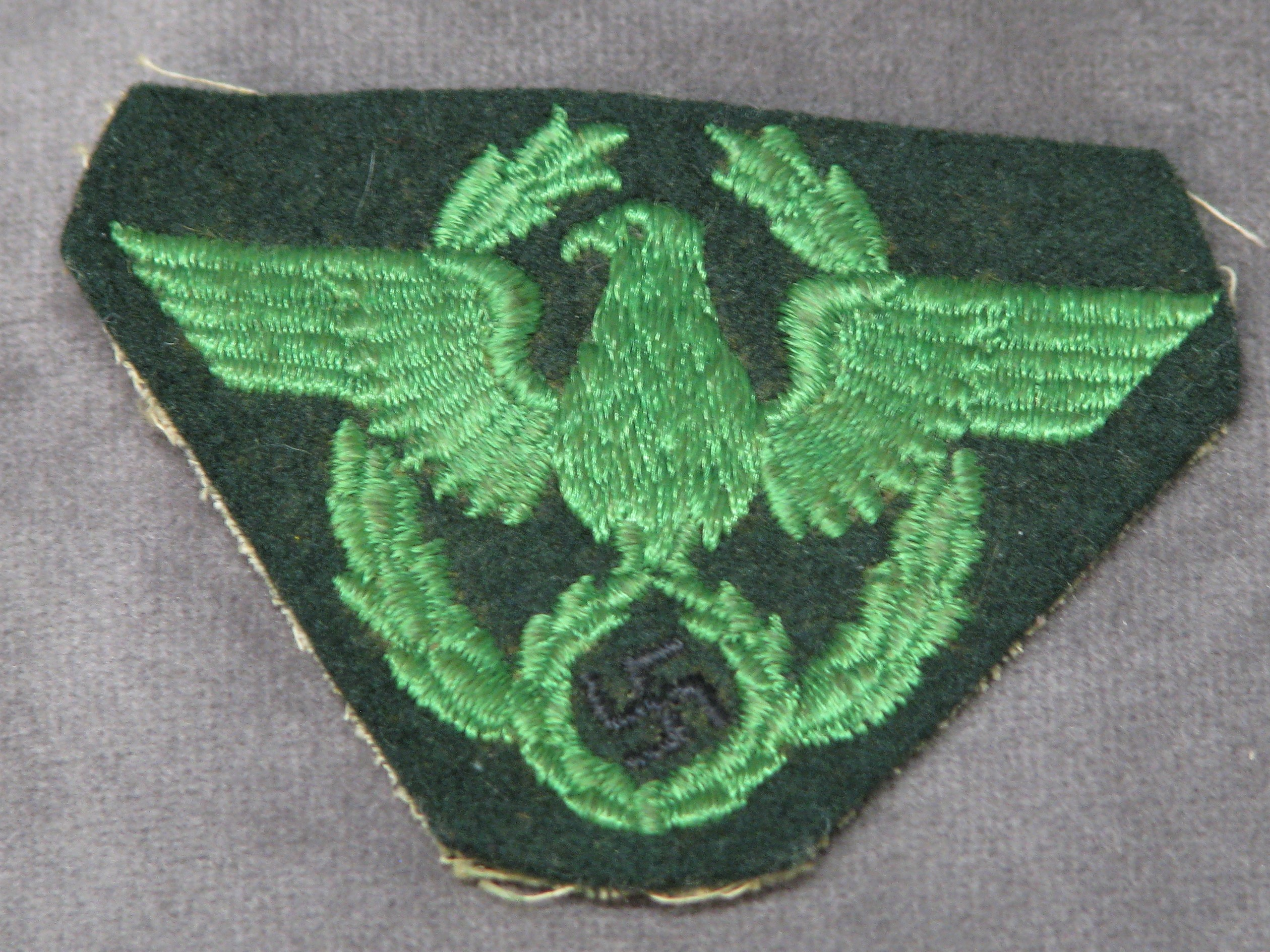 WWII German Police Sleeve Eagle Patch Schutzpolizei National Protection Police 17-147