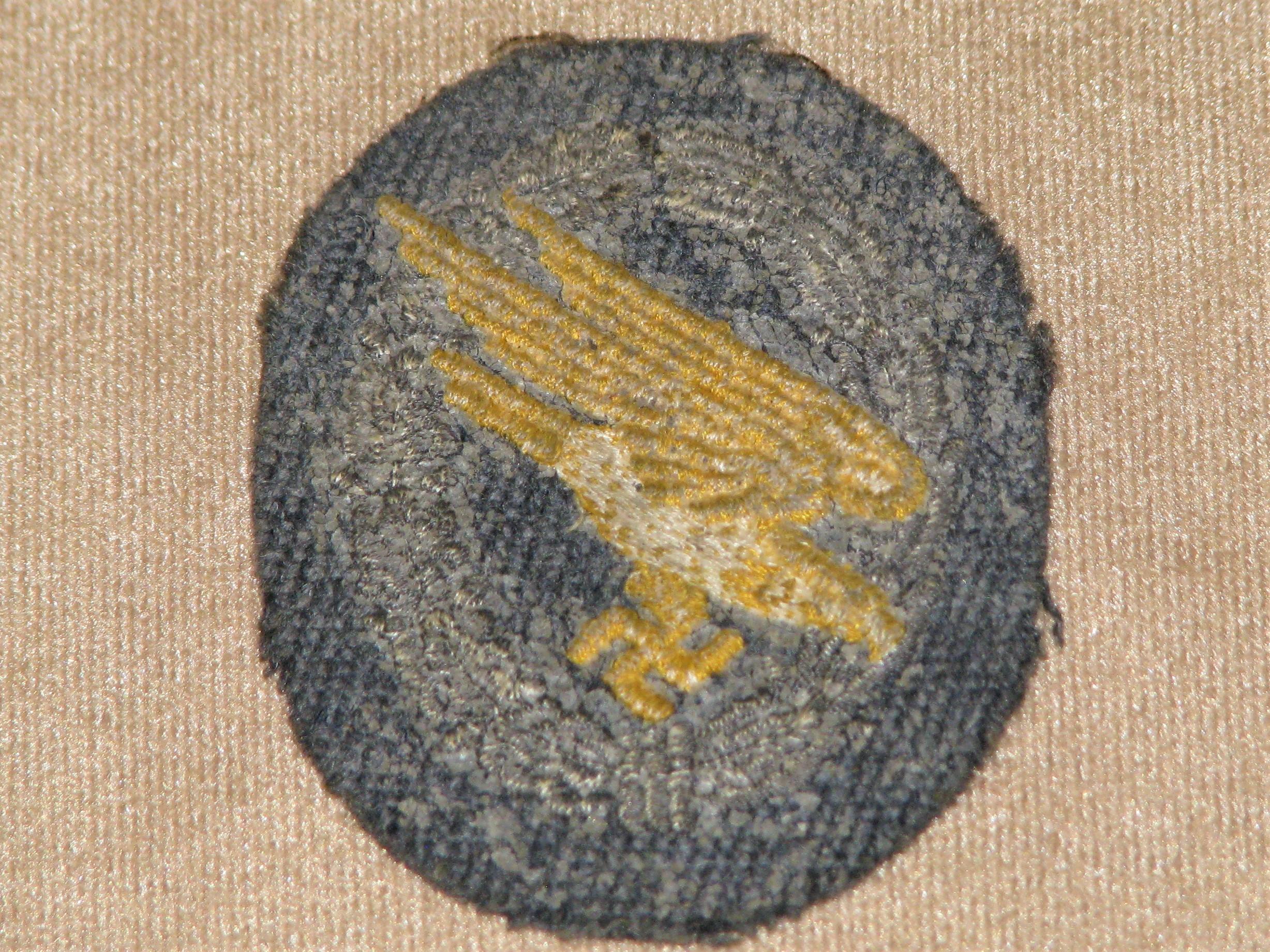 Original WWII German Luftwaffe Paratrooper Cloth Badge 17