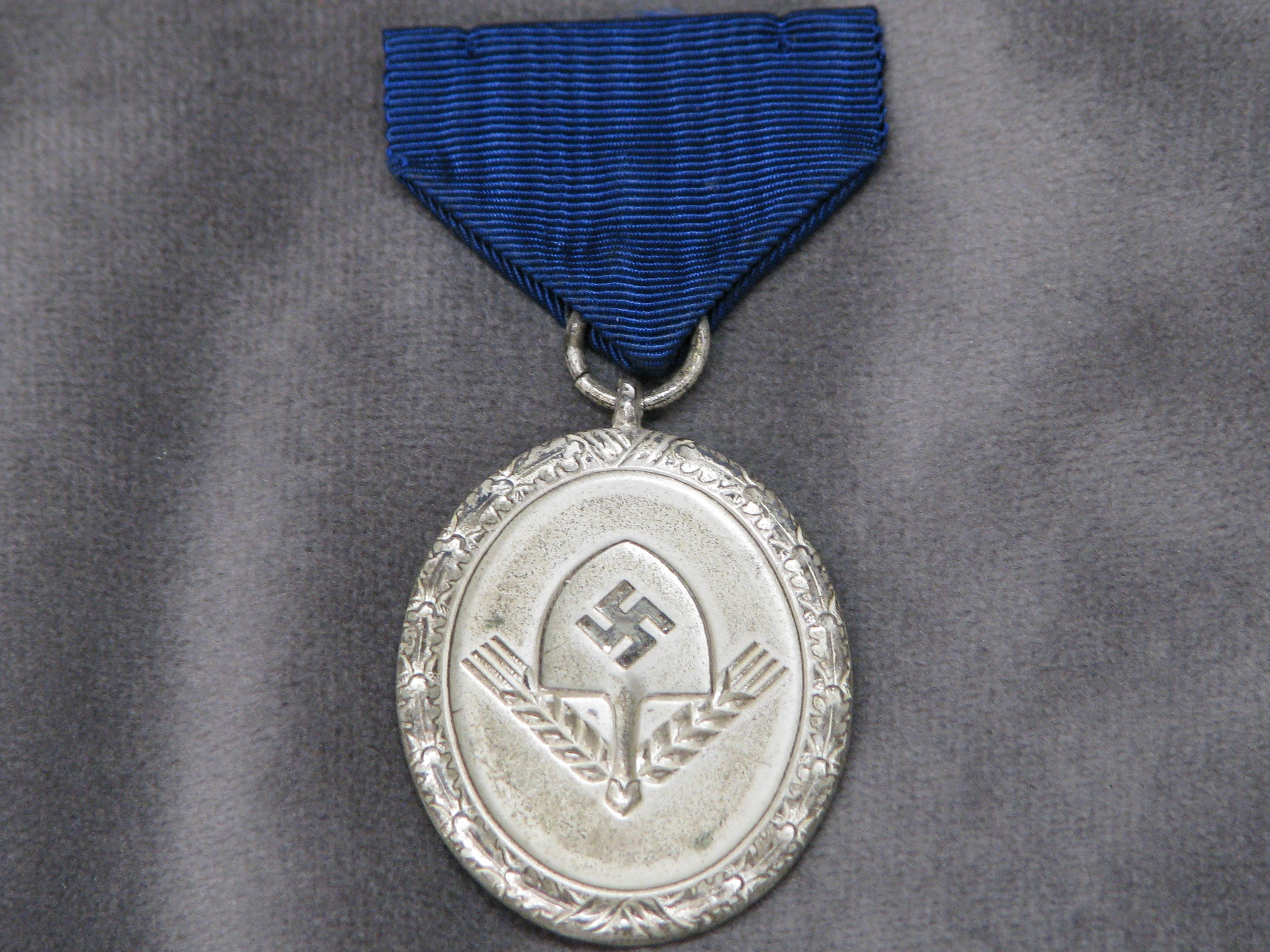 WWII German RAD Labor Corps 12 Year Service Medal with Original Frosty Surface 18-152