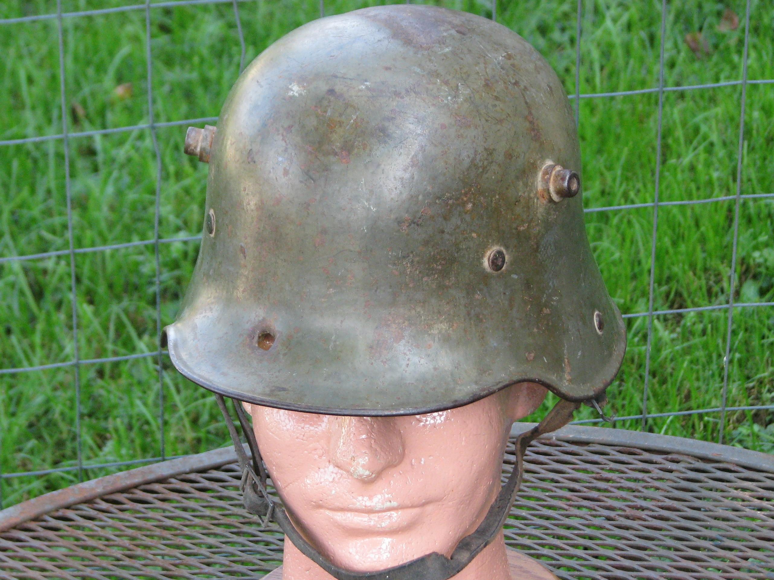 Original WWI German Steel Helmet with Combat Damage 17-172
